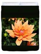 Peachy Petals Duvet Cover