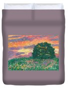Peachy Sunset Duvet Cover