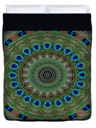 Peacock Abstract Duvet Cover
