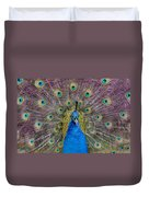 Peacock And Proud Plumage Duvet Cover