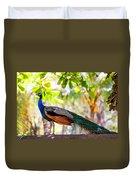 Peacock. Bird Of Paradise Duvet Cover