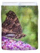 Peacock Butterfly Inachis Io On Buddleja Duvet Cover