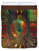 Peacock City Of Abstract Fx  Duvet Cover