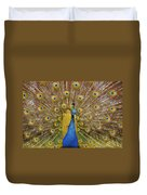Peacock Courting Duvet Cover