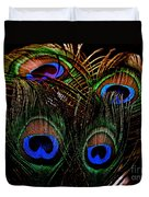 Peacock Eye Feathers Duvet Cover