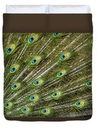 Peacock Feather Abstract Pattern Duvet Cover