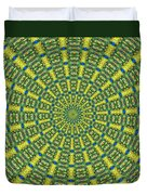 Peacock Feathers Kaleidoscope 2 Duvet Cover