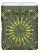 Peacock Feathers Kaleidoscope 5 Duvet Cover