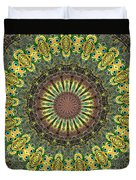 Peacock Feathers Kaleidoscope 7 Duvet Cover