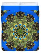 Peacock Feathers Kaleidoscope 9 Duvet Cover