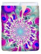 Peacock Flower Duvet Cover