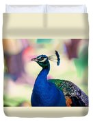 Peacock I. Bird Of Paradise Duvet Cover