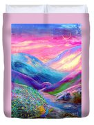 Peacock Magic Duvet Cover by Jane Small