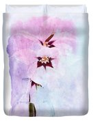 Peacock Orchids Duvet Cover