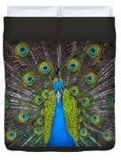 Peacock Portrait Duvet Cover