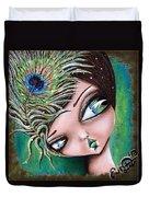 Peacock Princess Duvet Cover