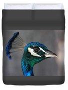 Peacock Profile Duvet Cover