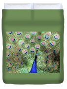 Peacock Smiles Duvet Cover