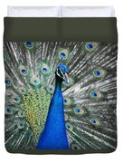 Peacock Up Close Duvet Cover