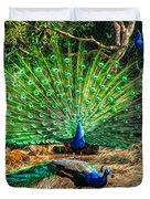 Peacocking Duvet Cover