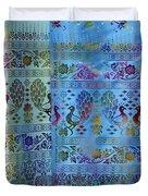 Peacocks On Silk Duvet Cover