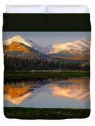 6m6530-a-peaks Reflected Touolumne Meadows  Duvet Cover