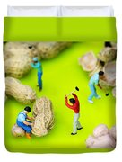 Peanut Workers Little People On Food Duvet Cover