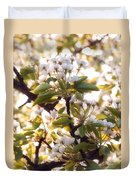 Pear Blossoms Duvet Cover