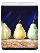 Pear Pear And A Pear Duvet Cover