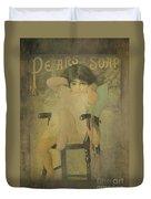 Pear Soap Girl Duvet Cover