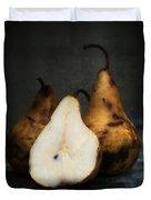 Pear Still Life Duvet Cover