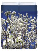 Pear Tree Blossoms In Spring Duvet Cover