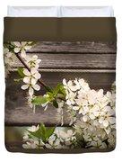 Pear Tree Blossoms Duvet Cover