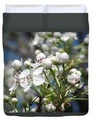 Pear Tree In Bloom Duvet Cover