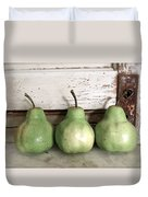 Pear Trio Duvet Cover