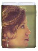 Pearl Earring Duvet Cover