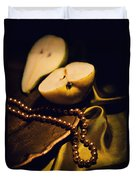 Pearls And Pears Duvet Cover