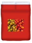 Pears And Peaches. Fresh Market Series Duvet Cover