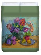 Pears And Roses Duvet Cover