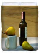 Pears And Wine Duvet Cover