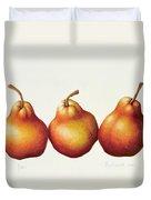 Pears Duvet Cover by Annabel Barrett