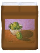 Pears In Bowl Duvet Cover