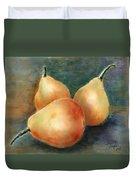 Pears Still Life Duvet Cover