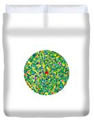 Peas On Earth Duvet Cover