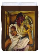 Peasant Girl Duvet Cover