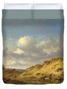 Peasants Driving Cattle And Sheep Duvet Cover