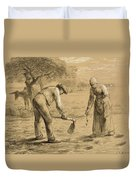 Peasants Planting Potatoes  Duvet Cover