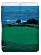 Pebble Beach Golf Course 8th Green Duvet Cover