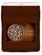 Pebbles In Wood Bowl Duvet Cover