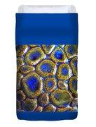 Pebbles Marbled Blue Duvet Cover